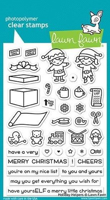 Lawn Fawn Holiday Helpers Clear Stamps (LF1767)