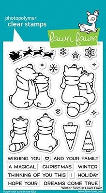 Lawn Fawn Winter Skies Clear Stamps (LF1763)