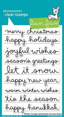 Lawn Fawn Winter Scripty Sentiments Clear Stamps (LF1773)