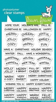 Lawn Fawn Reveal Wheel Holiday Sentiments Clear Stamps (LF1772)