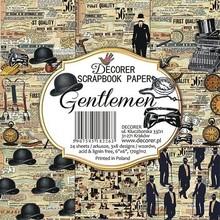 Decorer Gentlemen 6x6 Inch Paper Pack (C23-266)