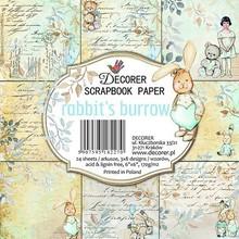 Decorer Rabbit's Burrow 6x6 Inch Paper Pack (C24-277)