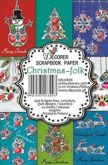 Decorer Christmas Folk Paper Pack (7x10,8cm) (M17)