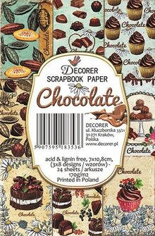 Decorer Chocolate Paper Pack (7x10,8cm) (M58)