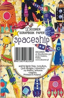 Decorer Spaceship Paper Pack (7x10,8cm) (M59)