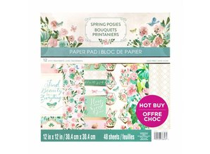 Craft Smith Spring Posies 12x12 Inch Paper Pad (MPP0425)