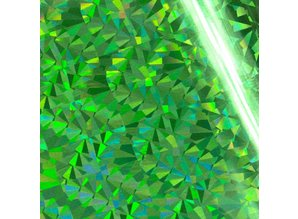 Couture Creations Heat Activated Foil Green Iridescent Triangular Pattern (CO726066)