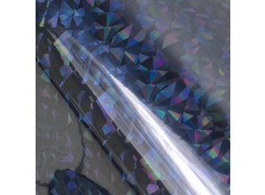 Couture Creations Heat Activated Foil Black Iridescent Triangular Pattern (CO726067)