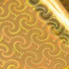 Couture Creations Heat Activated Foil Gold Iridescent Spiral Pattern (CO726071)