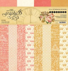 Graphic 45 Princess 12x12 Inch Patterns & Solid (4501801)