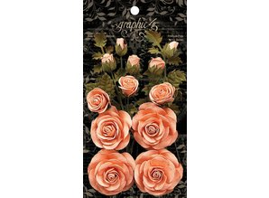Graphic 45 Precious Pink Linen Flowers (4501786)