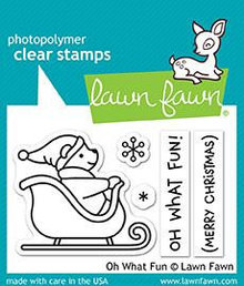 Lawn Fawn Oh What Fun Clear Stamps (LF1776)