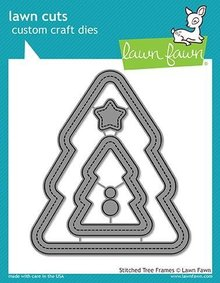 Lawn Fawn Stitched Christmas Tree Frames Dies (LF1798)