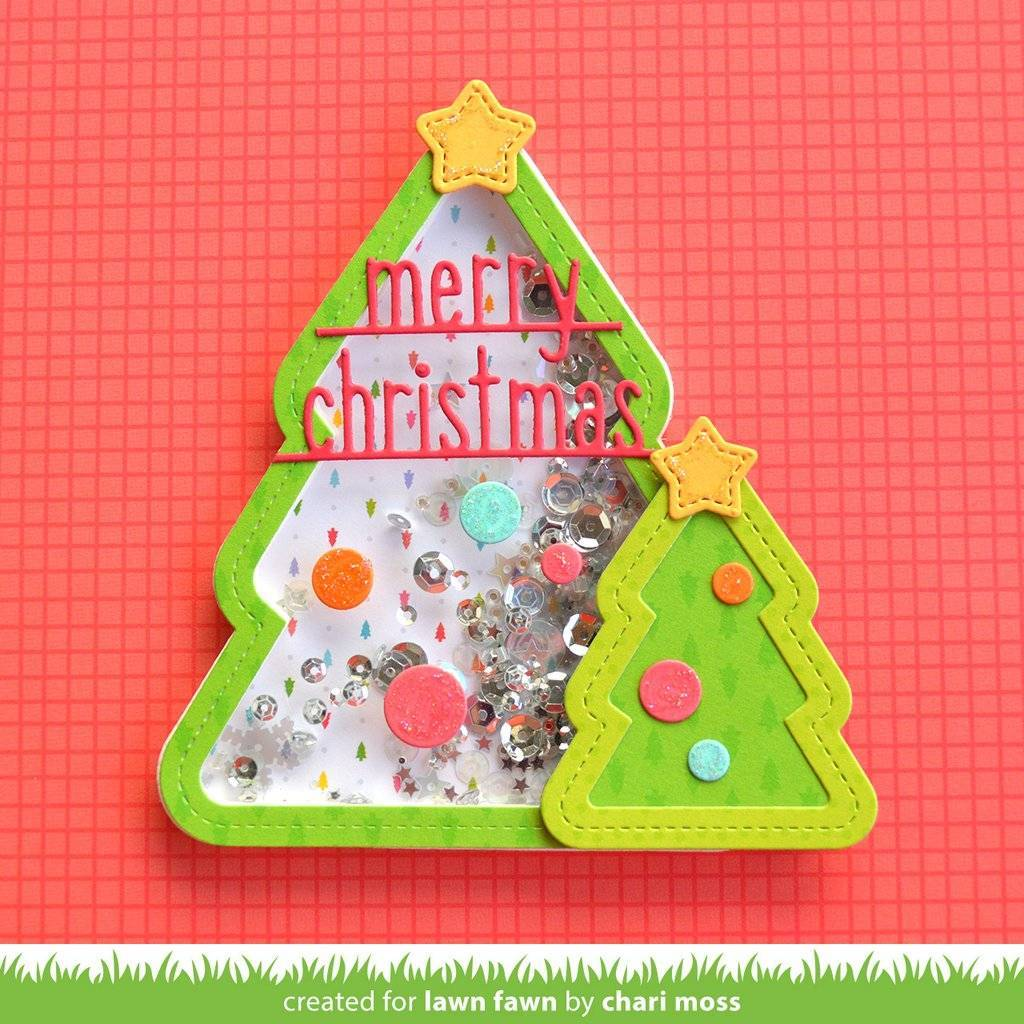 Lawn Fawn Stitched Christmas Tree Frames Dies Lf1798 Paperpadsnl