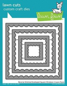 Lawn Fawn Reverse Stitched Scalloped Square Windows Dies (LF1799)