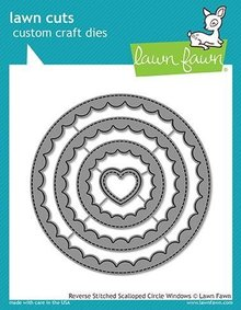 Lawn Fawn Reverse Stitched Scalloped Circle Windows Dies (LF1801)