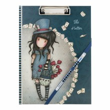 Gorjuss The Hatter Clip Folio Pad With Pen (854GJ01)