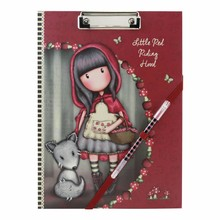 Gorjuss Little Red Riding Hood Clip Folio Pad With Pen (854GJ02)