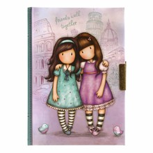 Gorjuss Friends Walk Together Lockable Notebook (577GJ09)
