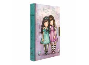 Gorjuss Friends Walk Together Lockable Notebook (577GJ09)