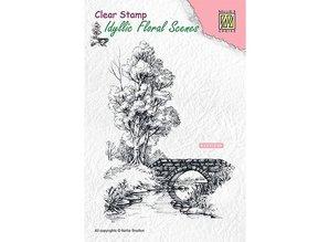 Nellie Snellen Scene With Stream And Bridge Clear Stamp (IFS011)