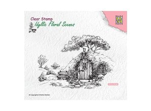 Nellie Snellen Scene With Old House Clear Stamp (IFS012)