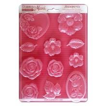 Stamperia Soft Maxi Moulds Roses (K3PTA430)