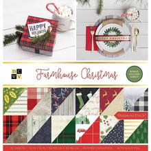 DCWV Farmhouse Christmas 12x12 Inch Premium Stack (614654)