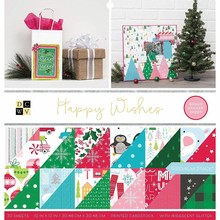 DCWV Happy Wishes 12x12 Inch Premium Stack (614655)