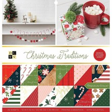 DCWV Christmas Traditions 12x12 Inch Premium Stack (614657)