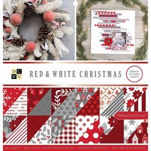 DCWV Red & White Christmas 12x12 Inch Premium Stack (614659)