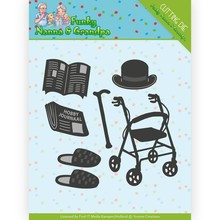 Yvonne Creations Funky Nanna's and Grandpa Grandpa Accessoires Cutting Die (YCD10159)