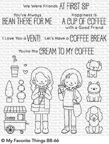 My Favorite Things Friends at First Sip Clear Stamps (BB-66)