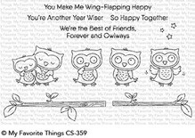 My Favorite Things Forever and Owlways Clear Stamps (CS-359)