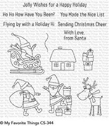 My Favorite Things Here Comes Santa Claus Clear Stamps (CS-344)