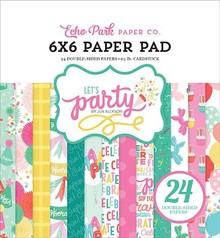 Echo Park Let's Party 6x6 Inch Paper Pad (LP170023)