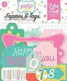 Echo Park Let's Party Ephemera Frames & Tags (LP170025)