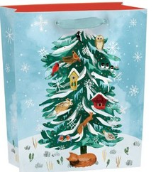 Roger La Borde Christmas Conifer Gift Bag Small With Tag (BGX 347S)