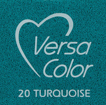 Tsukineko VersaColor 1 Inch Cube Ink Pad Turquoise (VS-20)