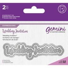 Gemini Wedding Invitations Words Metal Die (GEM-MD-E-W-72)