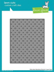 Lawn Fawn Polka Heart Backdrop: Portrait Die (LF1831)