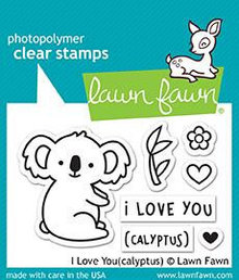 Lawn Fawn I Love You(calyptus) Clear Stamps (LF1823)