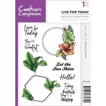 Crafter's Companion Live For Today Unmounted Rubber Stamp Set (CC-ST-LIVE)