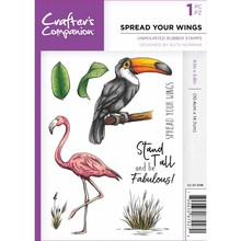 Crafter's Companion Spread Your Wings Unmounted Rubber Stamp Set (CC-ST-SYW)