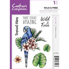 Crafter's Companion Wild & Free Unmounted Rubber Stamp Set (CC-ST-WILD)