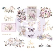 Prima Marketing Inc Lavender Frost 5x8 Inch Chipboard Stickers (634339)