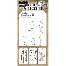 Stampers Anonimous Tim Holtz Mini Layering Stencil Set 38 (THMST038)