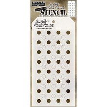 Stampers Anonimous Tim Holtz Shifter Dots Layering Stencil (THS109)