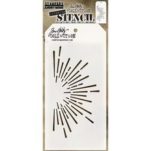 Stampers Anonimous Tim Holtz Burst Layering Stencil (THS116)