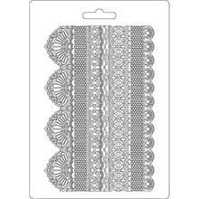 Stamperia Texture Impression Soft Mould A5 Laces (K3PTA505)